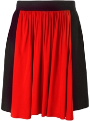 Armani Jeans Color Block Flared Skirt
