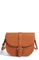Emperia Faux Leather Saddle Bag Brown