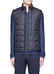 Theory 'Witt' Down Puffer Vest Black