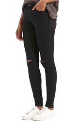 Women's Topshop Moto 'Leigh' Ripped Skinny Jeans Black