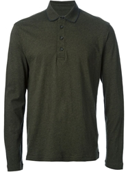 Zegna Sport Long Sleeve Polo Shirt Green