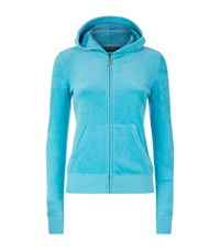 Juicy Couture Long Live Sequin Velour Hoodie Female Blue