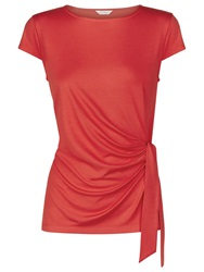 Kaliko Side Tie Top Bright Red