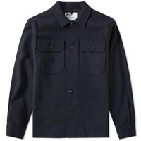 Mhl By Margaret Howell Mhl. Heavy Overshirt Blue