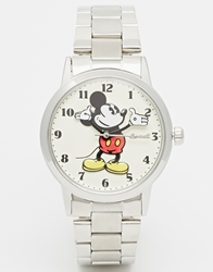 Disney Silver Classic Mickey Mouse Watch