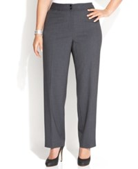 Calvin Klein Plus Size Wide Leg Dress Pants Charcoal