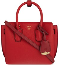 Mcm Milla Mini Leather Satchel Ruby Red