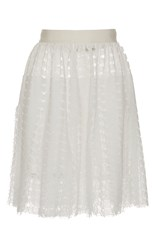 Maison Rabih Kayrouz Lace Mini Skirt White