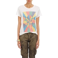 The Elder Statesman Rays Diamond T Shirt White