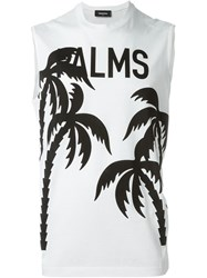 Dsquared2 Palm Tree Print T Shirt White