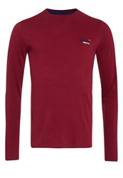 Superdry Vintage Embroidery Long Sleeve T Shirt Red