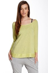Beyond Yoga Stripe Terry Pullover Yellow