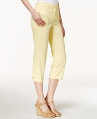 Charter Club Cropped Twill Pants Only At Macy's Lemon Tart