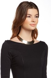 Stella Ruby Back Draped Cuff Necklace Metallic