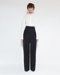 Christophe Lemaire Pleated Pants Black