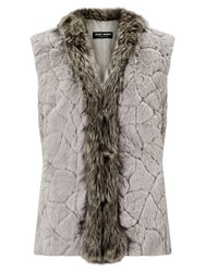 Gerry Weber Faux Fur Gilet Dark Taupe
