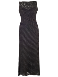 Chesca Lurex Tipped Fancy Jersey Dress With Jacket Black