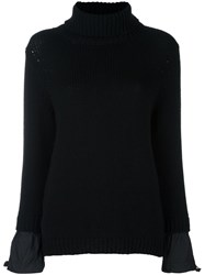 Boutique Moschino Cable Knit Jumper Black