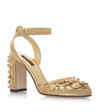 Dolce And Gabbana Charms Sling Back Heels 90 Female Gold