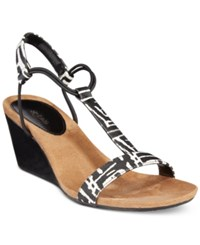 Styleandco. Style And Co. Mulan Wedge Sandals Only At Macy's Women's Shoes Black White
