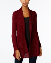 Ny Collection Petite Marled Fan Back Cardigan Mirabel