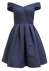 Chi Chi London Portia Cocktail Dress Party Dress Navy Dark Blue