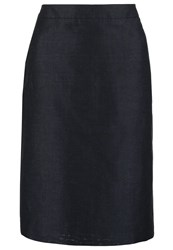 More And More Pencil Skirt Marine Dark Blue