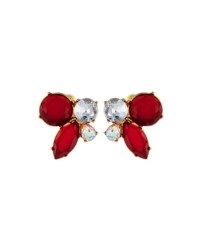 Lydell Nyc Crystal Cluster Stud Earrings Multi