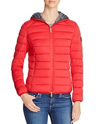 Save The Duck Packable Short Puffer Coat Red