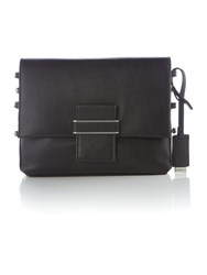 Marella Si Leather Cross Body Bag Black