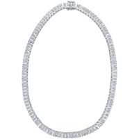 Jools By Jenny Brown 2 Row Cubic Zirconia Tennis Necklace Silver
