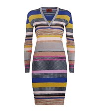 Missoni Stripe Knit Sweater Dress Female Blue