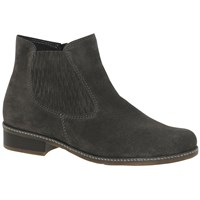 Gabor Pescara Extra Wide Ankle Boots Anthracite