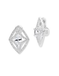 Anne Klein Cubic Zirconia And Crystal Button Earrings