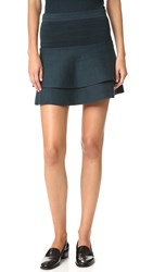 Apiece Apart Cebolla Mini Tech Skirt Mallard And Navy Space Dye