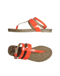 Belle By Sigerson Morrison Thong Sandals Orange