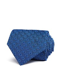 Turnbull And Asser Spiral Classic Tie Blue