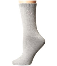 Sperry Solid Salt Wash Full Cushion Crew Griffin Women's Crew Cut Socks Shoes Gray