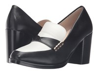 Cole Haan Mazie Pump Black Leather White Leather Women's Shoes