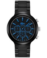 Lacoste Men's Chronograph Borneo Black Resin Composite Material Bracelet Watch 44Mm 2010772