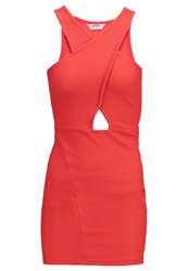 Miss Selfridge Petite Jersey Dress Red Coral
