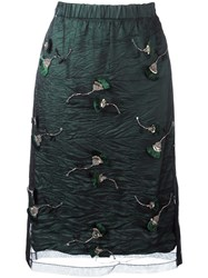 N 21 No21 Tulle Overlay Skirt Green