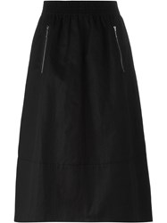 Alexander Wang Ruched A Line Skirt Black