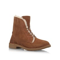 Ugg Quincy Flat Ankle Boots Brown