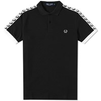 Fred Perry Taped Polo Black