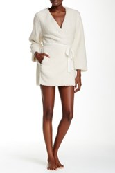 Josie Shaggy Wrap Robe White