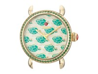 Michele Exotic Creatures Topaz Gold Turtle Diamond Dial Gold Watches