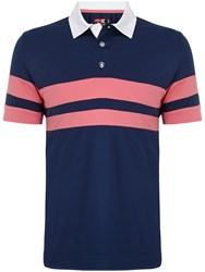 Callaway Rugby Chest Stripe Polo Navy