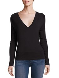 Rag And Bone Solid V Neck Sweater Black