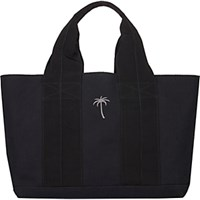 Tomas Maier Women's Grosgrain Ribbon Handle Small Tote Black Blue Black Blue